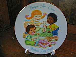 Avon Recipe For Love Mother's Day 1993 Plate