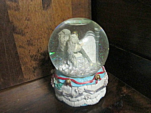 Vintage Angel Playing Harp Snow Globe
