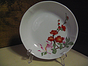 Ancap Porcelain Pink/orange Flower Sause Dish