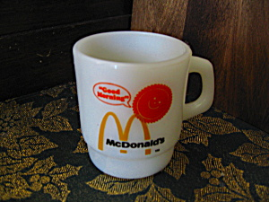 White Mcdonald's Anchor Hocking Coffee Mugs
