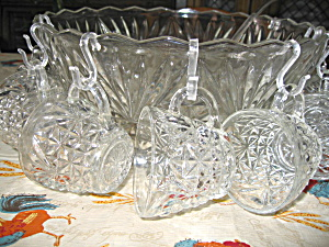 Vintage Anchor Hocking Arlington Punch Bowl Set