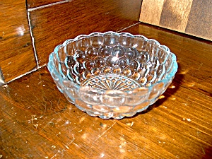 Vintage Sapphire Blue Bubble Fruit /dessert Bowl