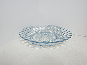 Vintage Sapphire Blue Bubble Glass Soup Bowl