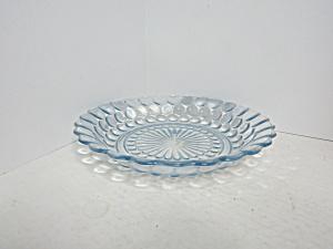 Vintage Sapphire Blue Bubble Glass Soup Bowl (Image1)