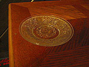 Anchor Hocking Crystal Sandwich Glass Saucer