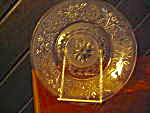 "Anchor Hocking Crystal Sandwich Glass 9"" Plate"