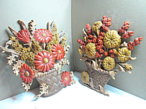 Vintage Burwood Fall Basket Wall Hanging