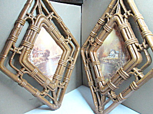 Vintage Homco Fall Diamond Shaped Wall Hangings