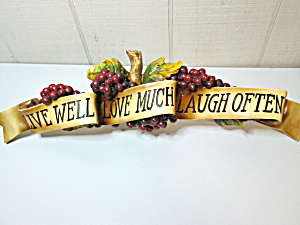 Tuscan Live-love-laugh Grape Wall Accent Plaque