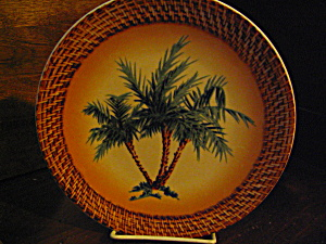 Art Decor Tropical Oasis Green Palm Tree Plate