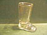 Vintage Clear Boot Candy Container