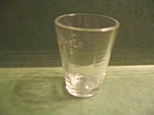 Vintage Clear Glass Medicine Measuring Cup Or Beaker