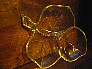 Vintage Leaf Divided Relish Dish