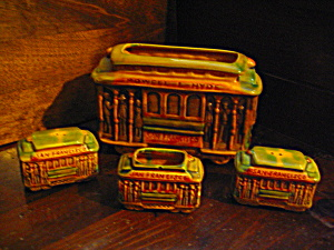 Powell- Hyde Trolley Vintage San Francisco Souvenir Set