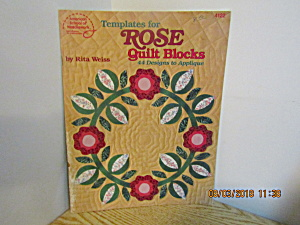 Asn Templates For Rose Quilt Blocks #4122