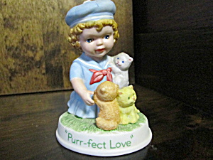 Avon Tender Memories Figurine Purr-fect Love