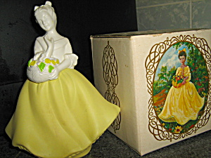 Avon Vintage Fashion Figurine Flower Madien