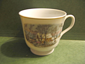 Avon Currier & Ives Winter Scene Cup