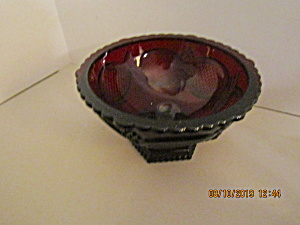 Vintage Avon Cape Cod Ruby Red Open Candy Dish