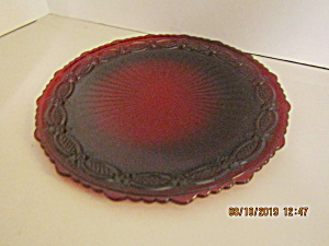 Vintage Avon Cape Cod Ruby Red Dinner Plate