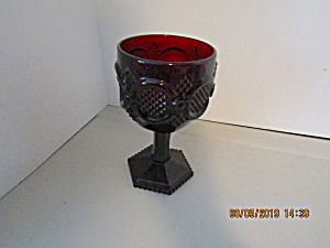 Vintage Avon Cape Cod Ruby Red Wine Glass