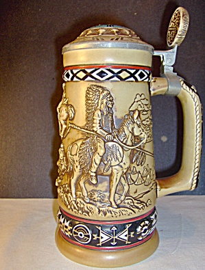 Vintage Avon Indians Of The American Frontier Stein