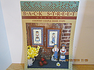Back Street Designs Country Couple Door Stops #106