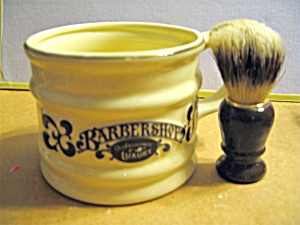 Barbershop Shaving Cup & Brush Set