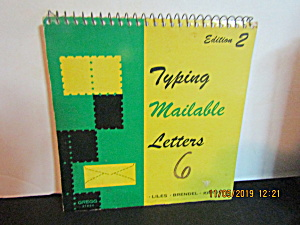 Vintage Typing Mailable Letters 6 Edition 2