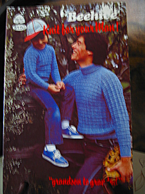 Beehive Knit For Your Men Booklet #7432