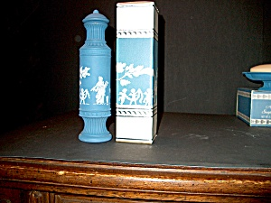 Avon Candle Holder Vintage Avonshire Blue