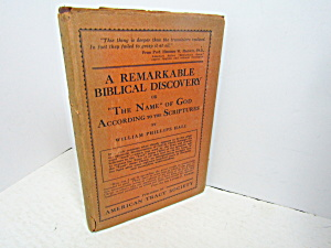 Vintage Religous Book A Remarkable Biblical Discovery