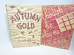 Book Set Autumn Gold & Though He Slay Me