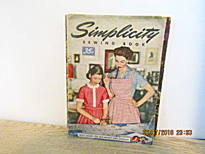 Vintage Book Simplicity Sewing Book 1953