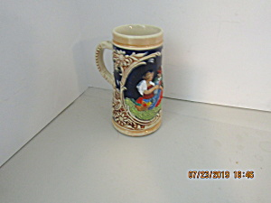 Vintage Mini- Stoneware Courting Couple Beer Stein