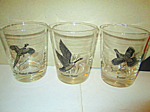 Federal Sportsman Wild Fowl Drinking Glasses
