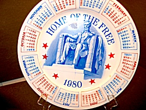 Calendar Plate Home Of The Free 1980