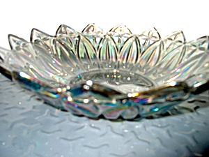 Vintage Carnival Glass Bowl Blue/smoke Tones