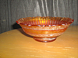 Carnival Glass Heavy Glass Amber Candy Dish