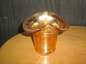 Dugan Glass Carnival Glass Glass Hat Basket