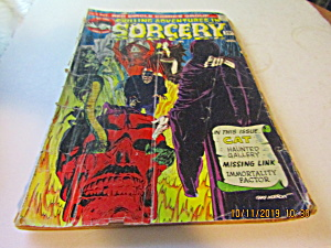 Vintage Red Circle Comic Chilling Adv In Sorcery