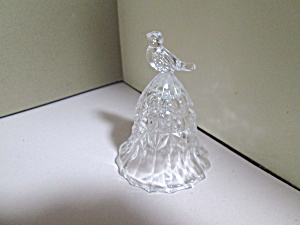 Vintage The Byrdes Collection Lead Crystal Bird Bell
