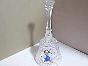 Vintage Lead Crystal Clown Bell