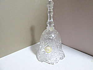 Vintage Lead Crystal Clear Pattern Design Bell