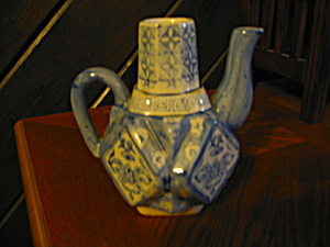 Blue And White Teapot Creamer