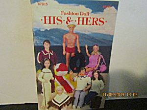 Vintage Booklet His & Hers Fashion Doll Outfits