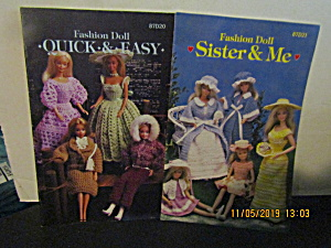 Vintage Booklet Annie's Doll Fashions To Knit & Crochet