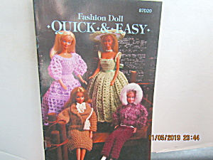 Vintage Annie's Fashion Doll Booklet Quick & Easy