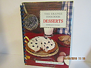 Vintage Cookbook The Grange Desserts Cook Book