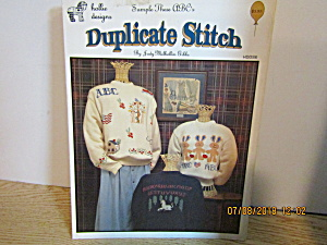 Holliedesigns Duplicate Stitch Sample These Abc's Hdds6